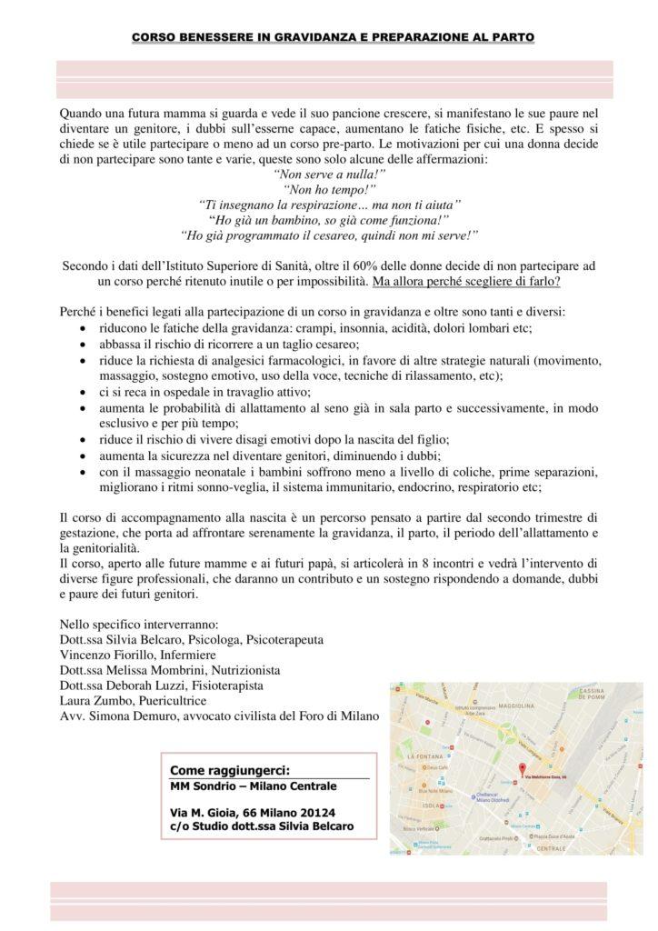 Locandina - corso benessere in gravidanza e preparazione al parto-1